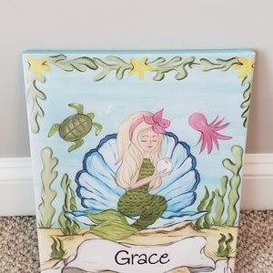 Other - Mermaid Painting customized with girls name Grace.